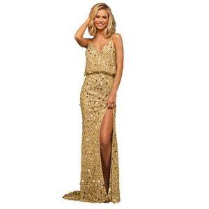 Sherri Hill dress 52452 size 2 color gold